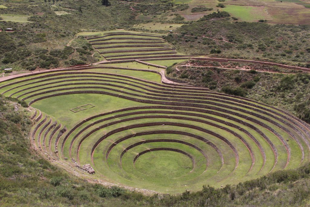 Incan ruin known as Moray: World Traveller Middle East