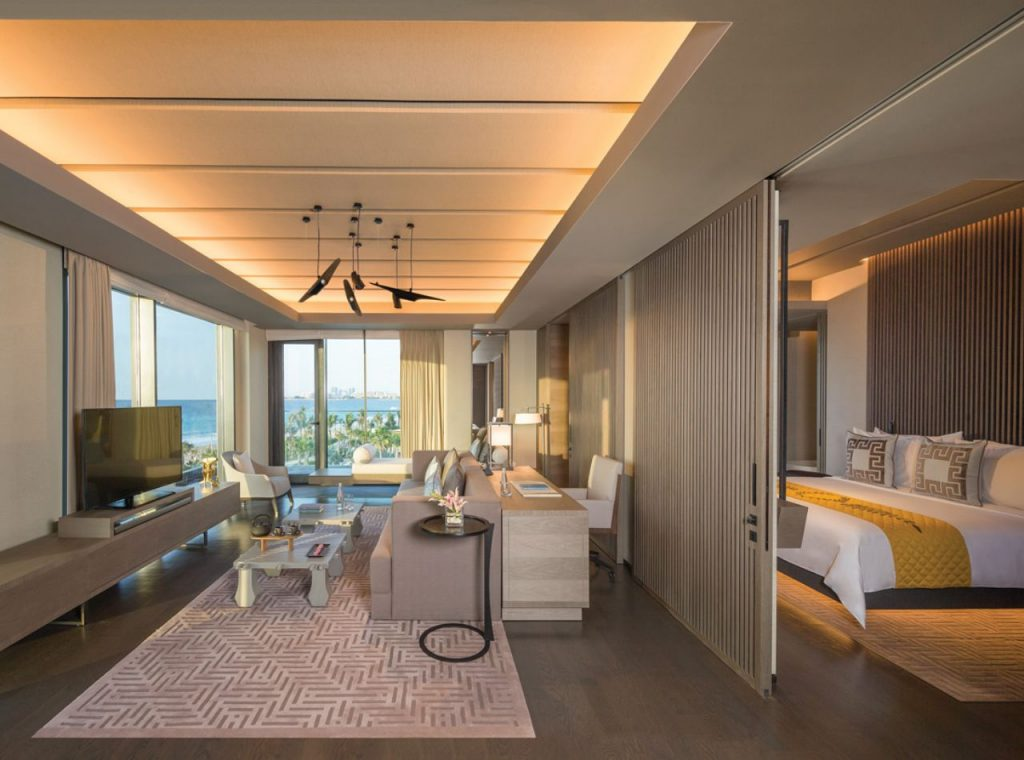Seaview one-bedroom suite at Caesars Palace Bluewaters Dubai