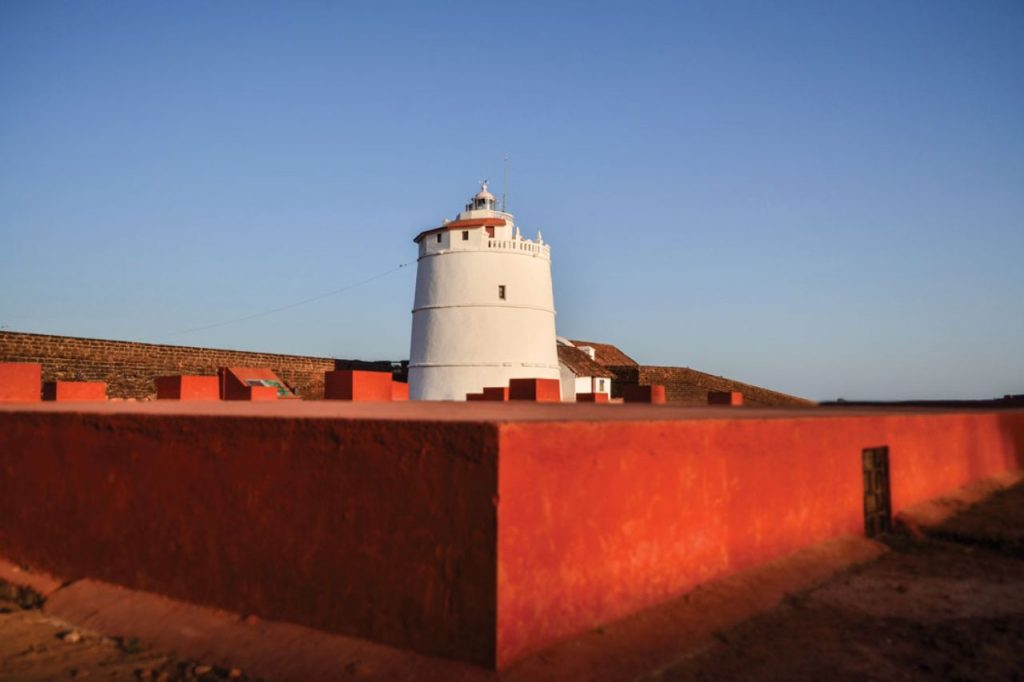 Fort Aguada on Sinquerim Beach