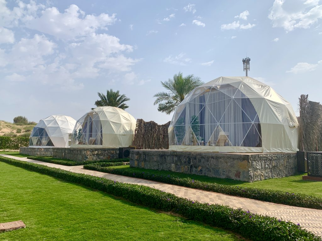 Dome tents at Longbeach Campground in RAK