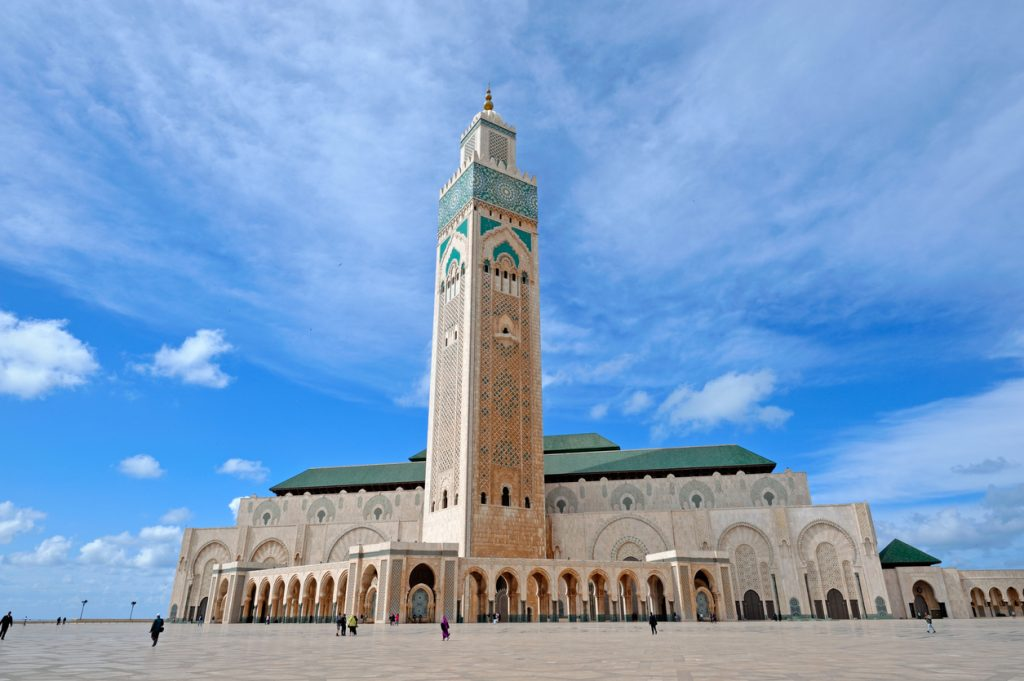 The architecture ofHassan-II Moque in Casablanca, Morocco